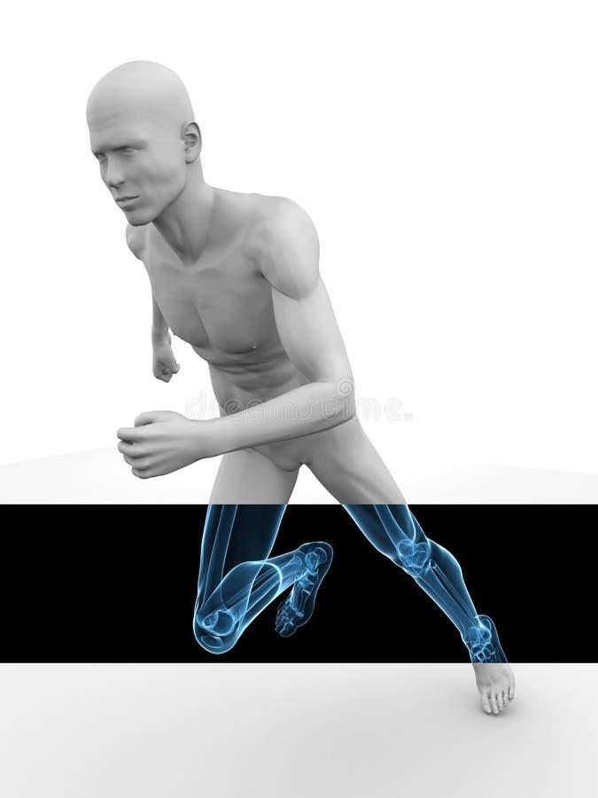 3d jogger model royalty ilustracja