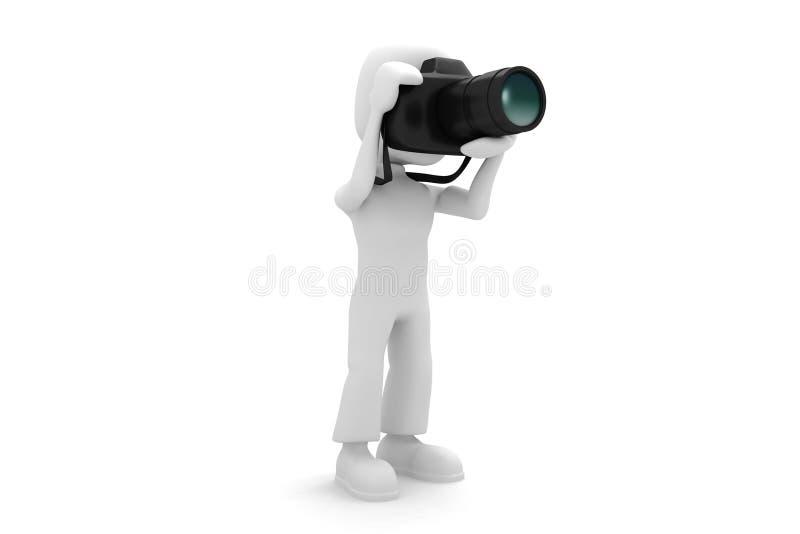 3d kamery foto mężczyzna ilustracji