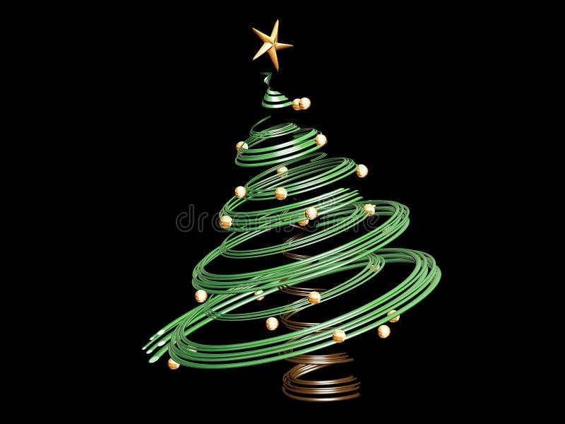 3D Kerstboom vector illustratie