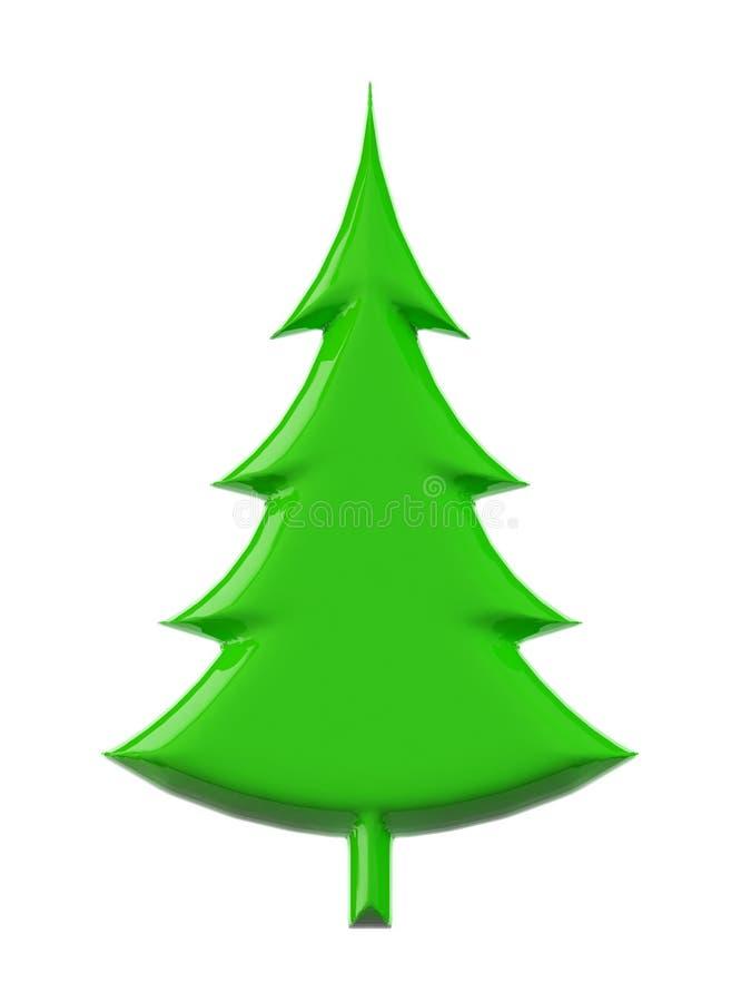3d Kerstboom royalty-vrije illustratie