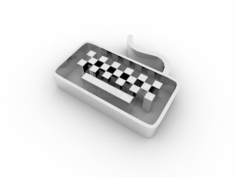 3d keyboard icon vector illustration