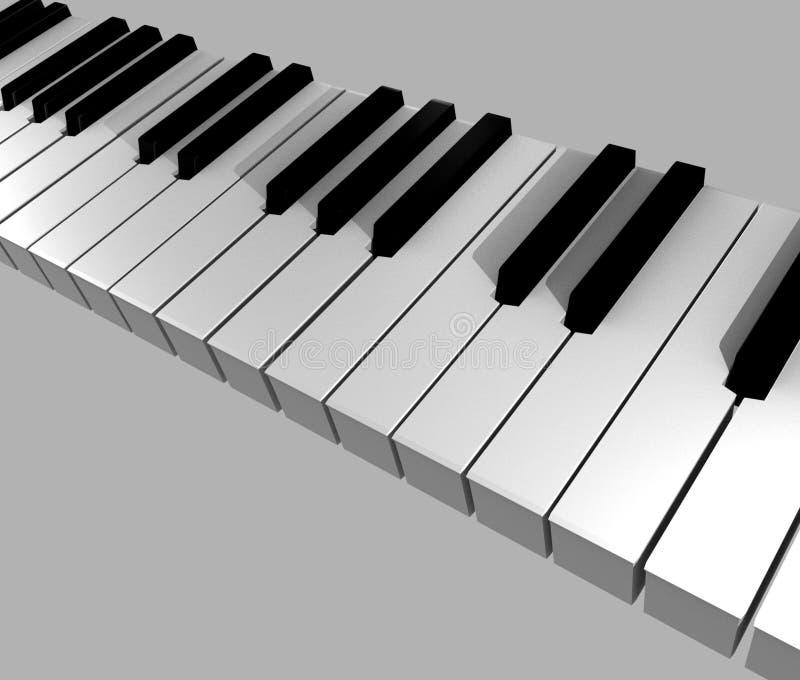 3d keys pianot royaltyfri foto