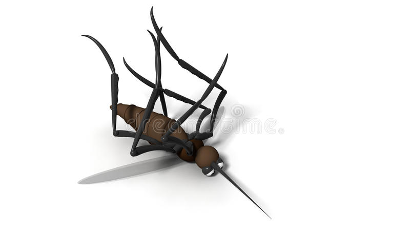 Download 3d killed mosquito stock illustration. Illustration of closeup - 11576101