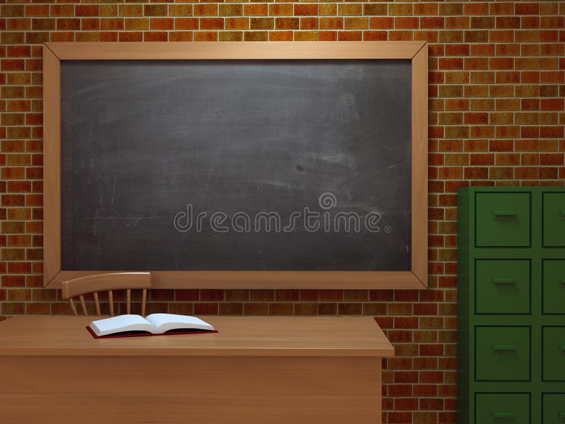 3d Klaslokaal stock illustratie