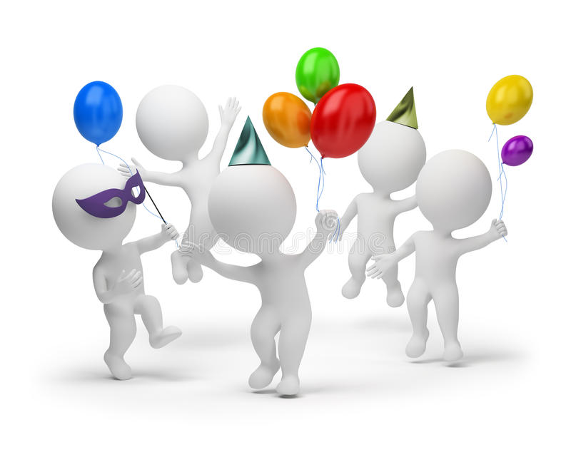 3d kleine Leute - Feiertag lizenzfreie abbildung