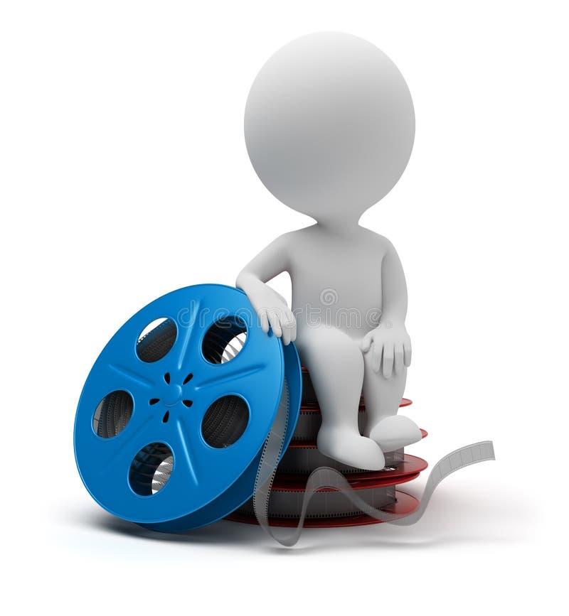 3d kleine Leute - Filmbandspule vektor abbildung