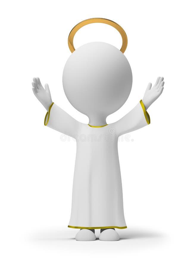 3d kleine Leute - Gott stock abbildung