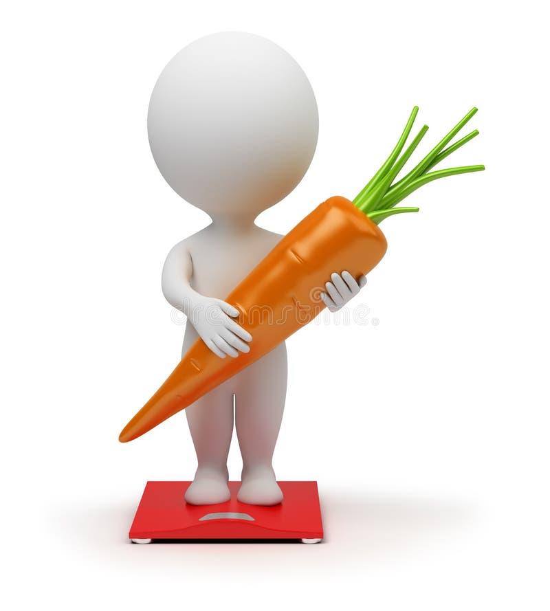 3d kleine mensen - dieet vector illustratie