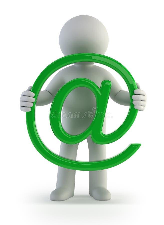 3d kleine mensen - e-mail royalty-vrije illustratie