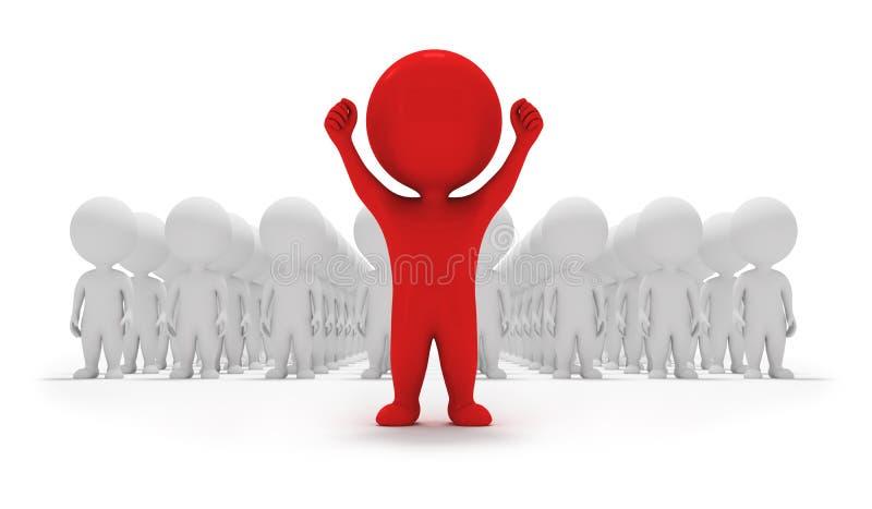 3d kleine mensen - vrijwilligers vector illustratie