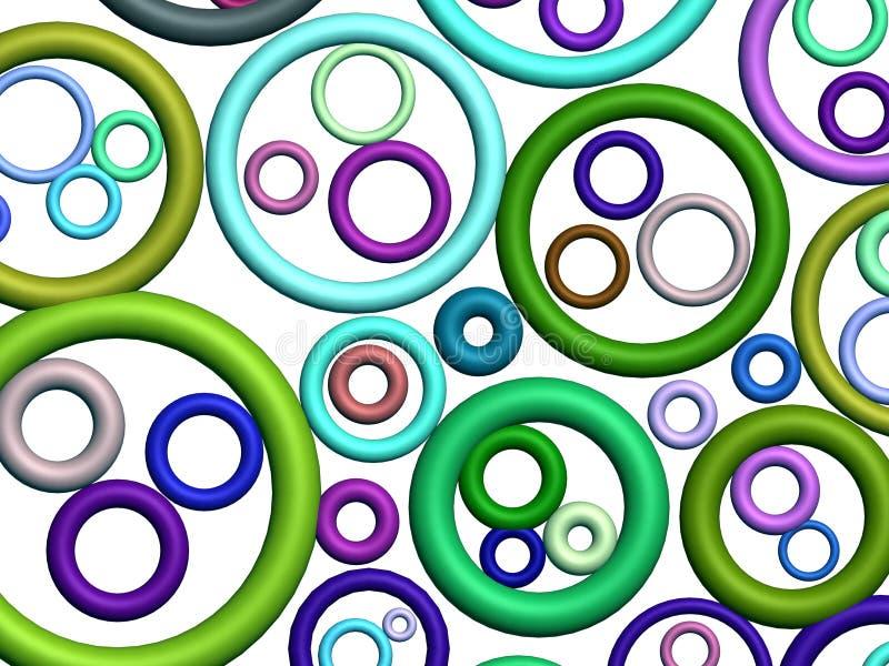 3D-kleurrijk abstract patroon (op wit) royalty-vrije illustratie