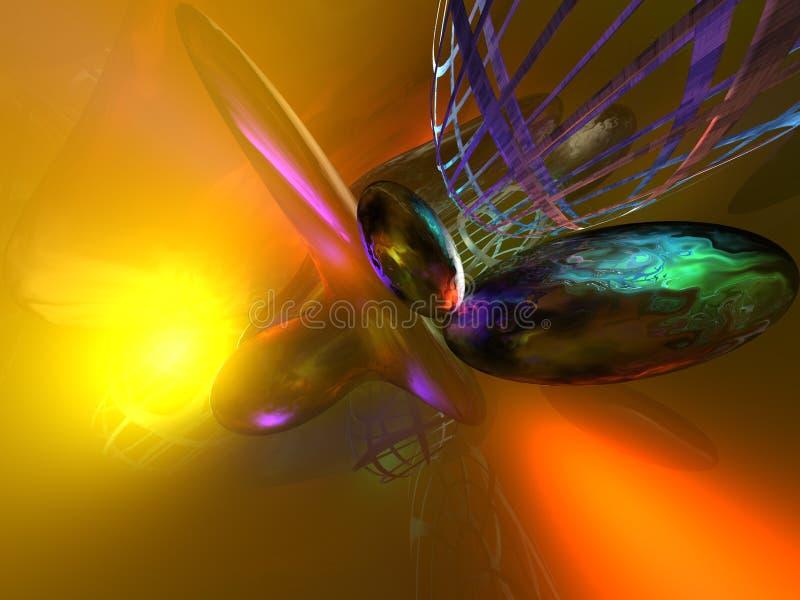 3D Kleurrijke Abstracte Achtergrond royalty-vrije stock afbeelding