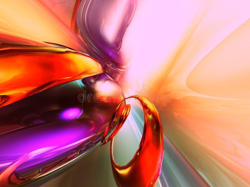 3D Kleurrijke Abstracte Glas geeft Achtergrond terug vector illustratie