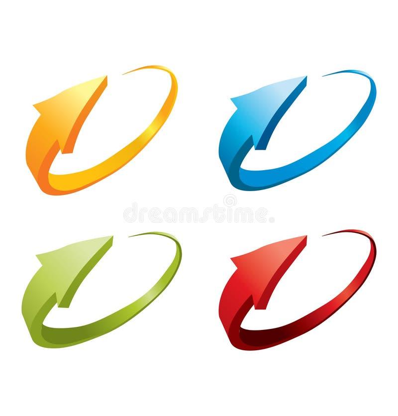 3d kleurrijke pijlen vector illustratie