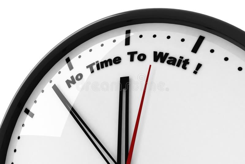 3d klok en geen tijd te wachten stock illustratie