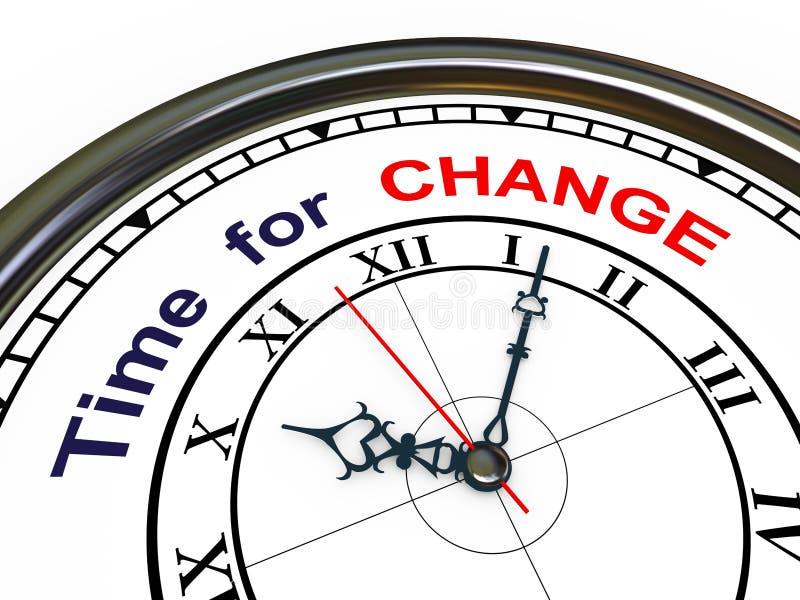 3d klok - tijd voor verandering vector illustratie