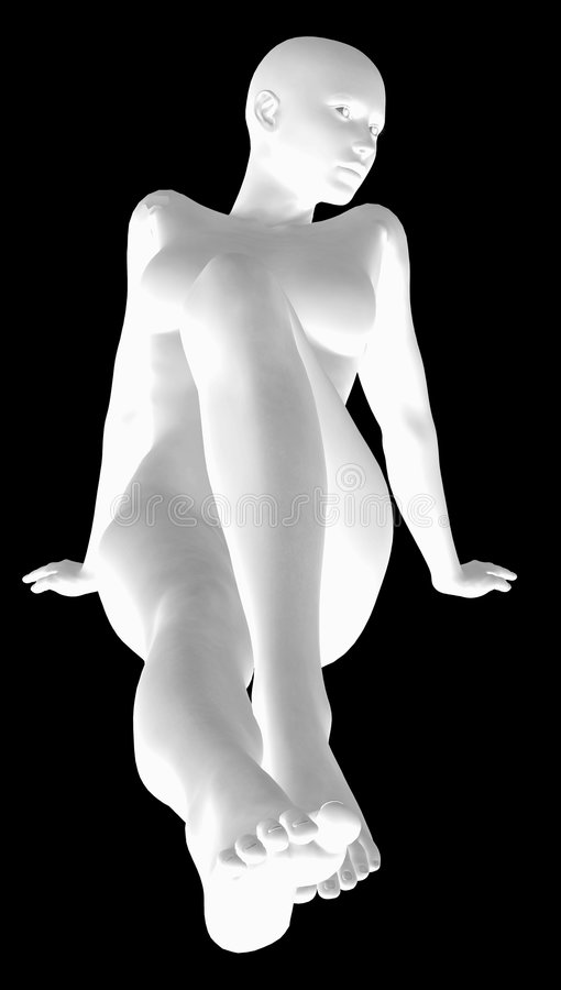 3d Kobieta Model ilustracja wektor