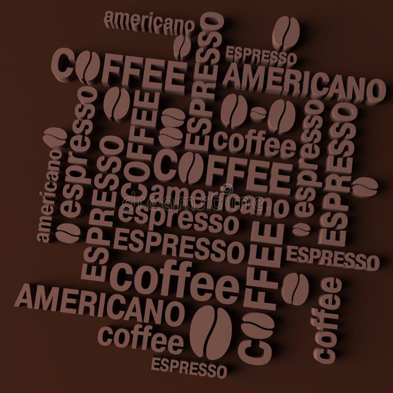 3D koffieachtergrond stock illustratie