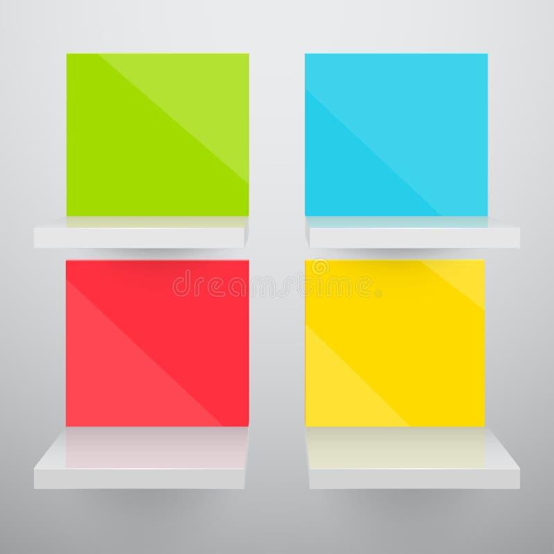3d kolorowi opróżniają odosobnionego ilustracja wektor