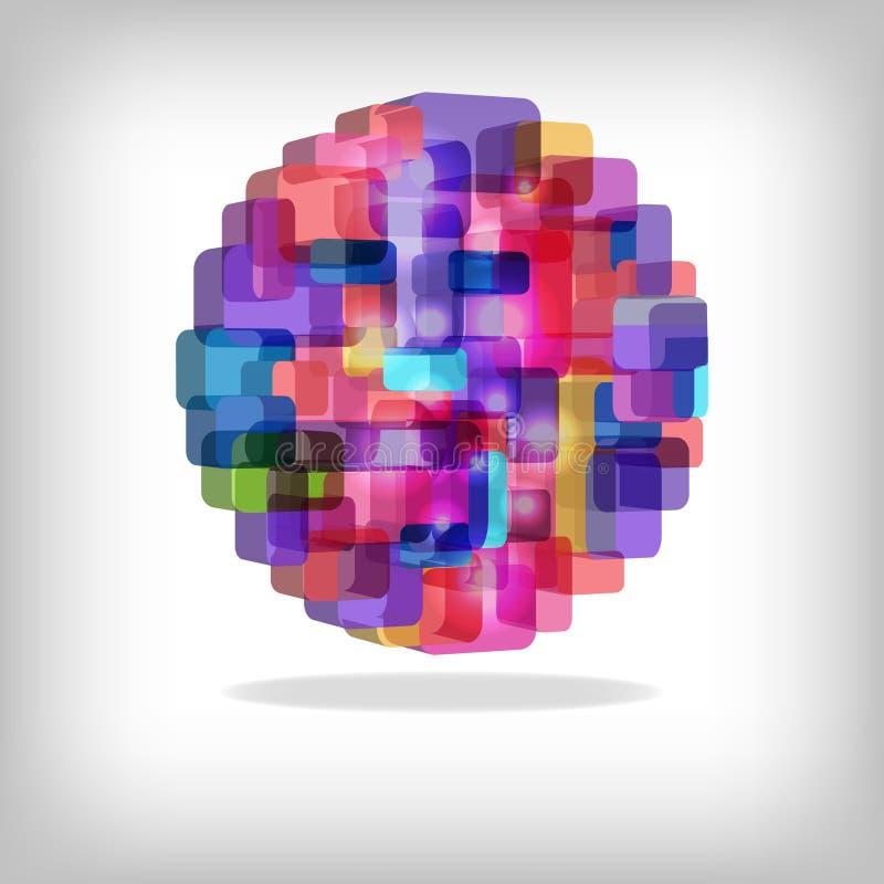 3d kolorowy abstrakcjonistyczny tło ilustracji