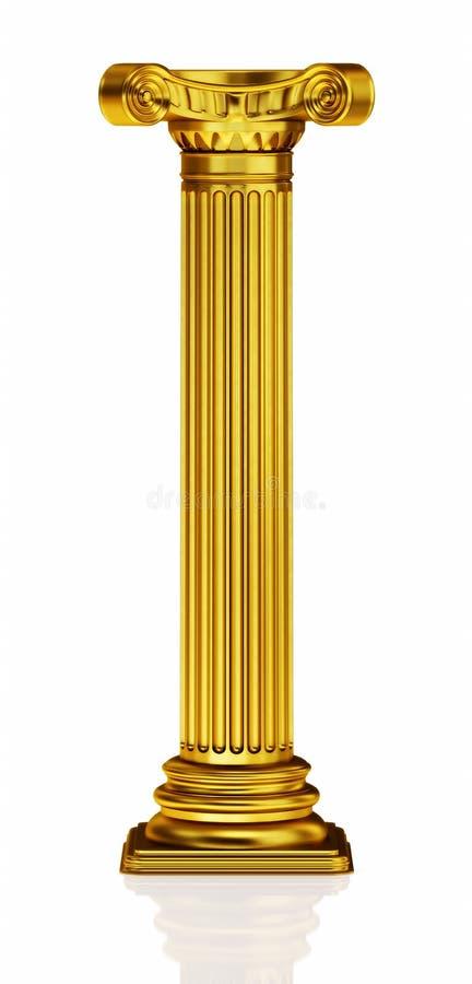 3d kolumna złota ilustracja wektor