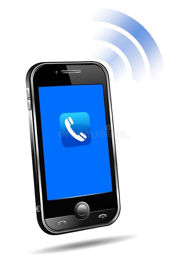 3d komórki telefon komórkowy dzwonienie mądrze royalty ilustracja