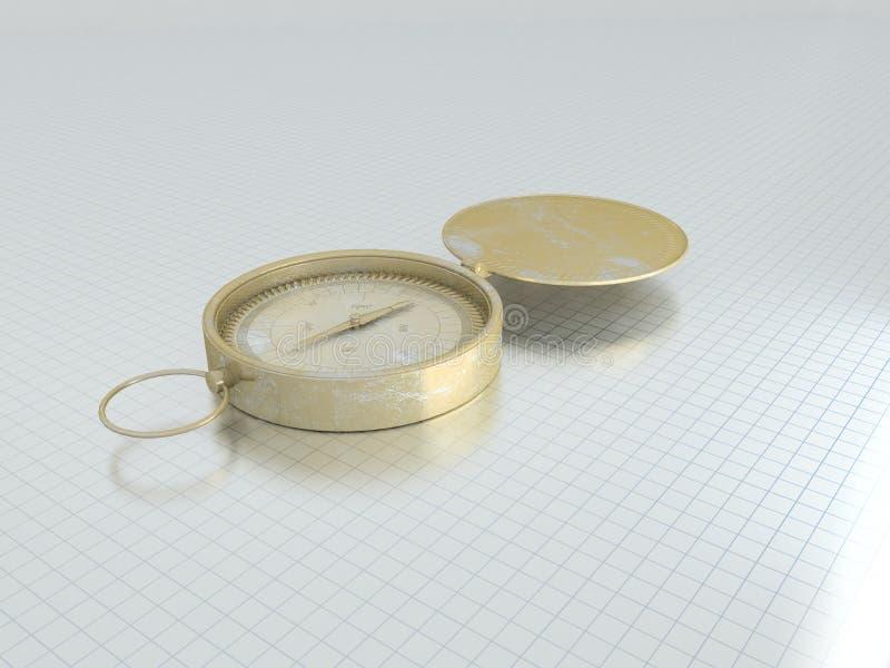 3d kompas vector illustratie
