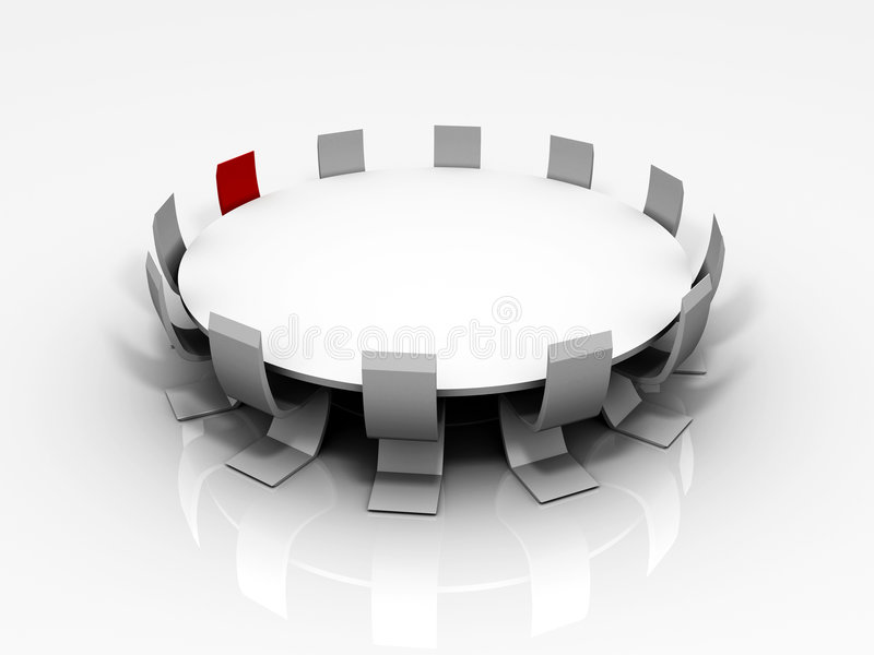 3D Konferenztisch stock abbildung