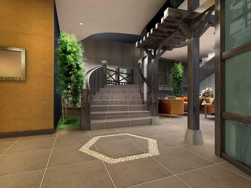 3d korytarz futurystyczny zdjęcia royalty free