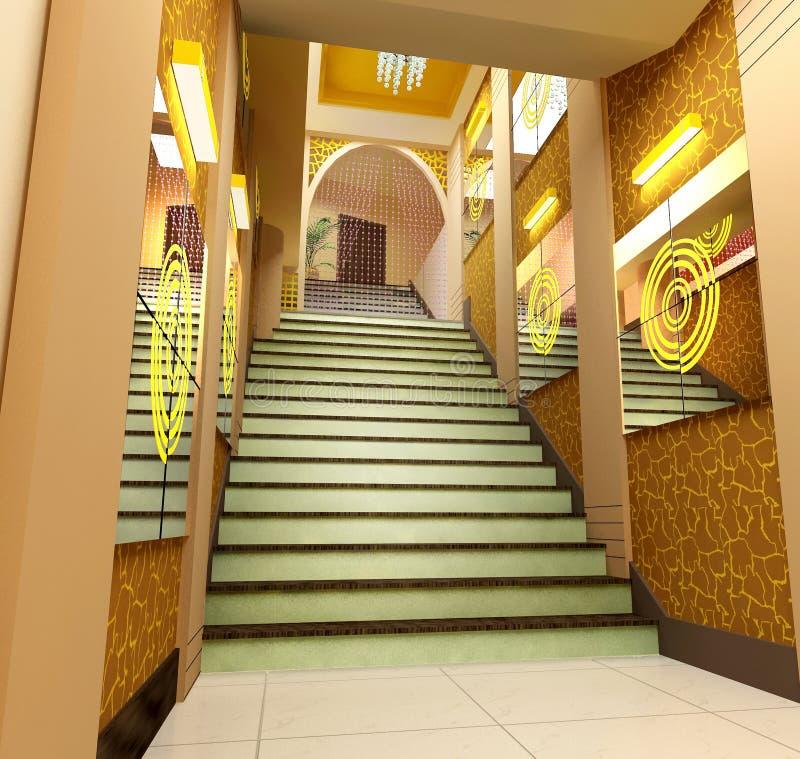 3d korytarz futurystyczny zdjęcie stock