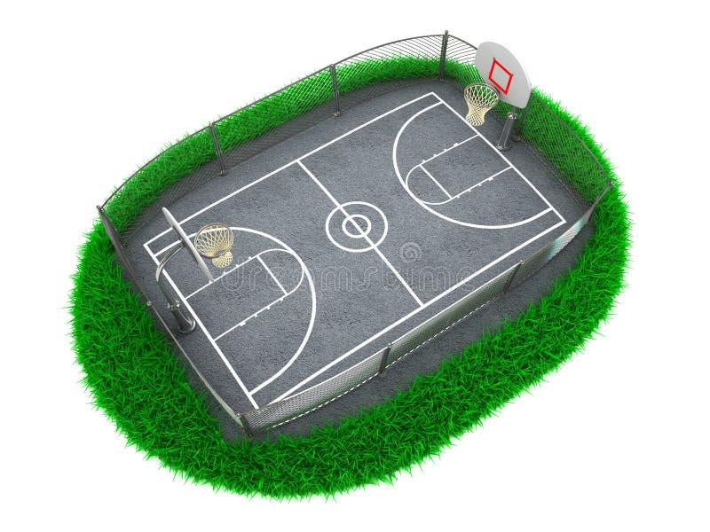 3d koszykówki pojęcie ilustracja wektor