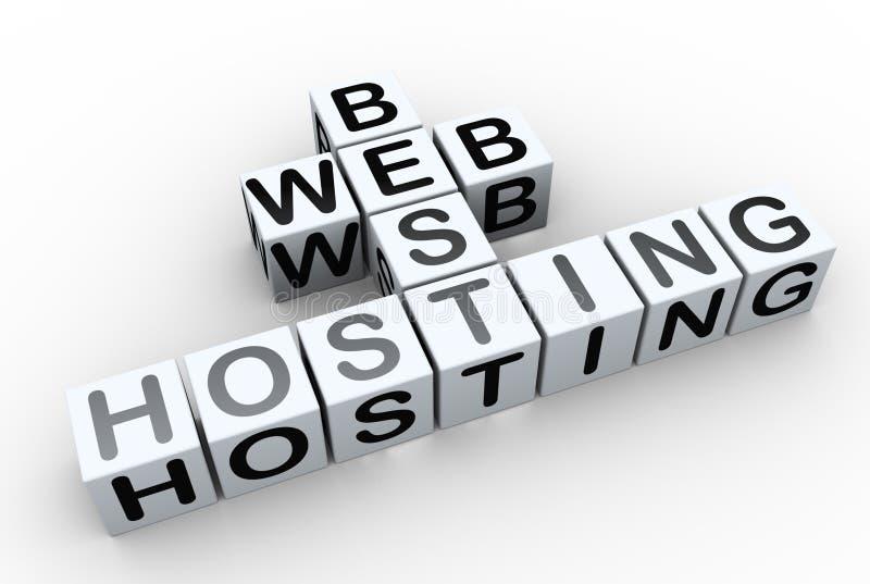 3d Kreuzworträtsel ?beste Web-Bewirtung? stock abbildung