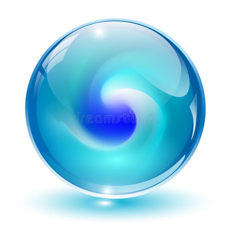 3D Kristall, Glaskugel. vektor abbildung