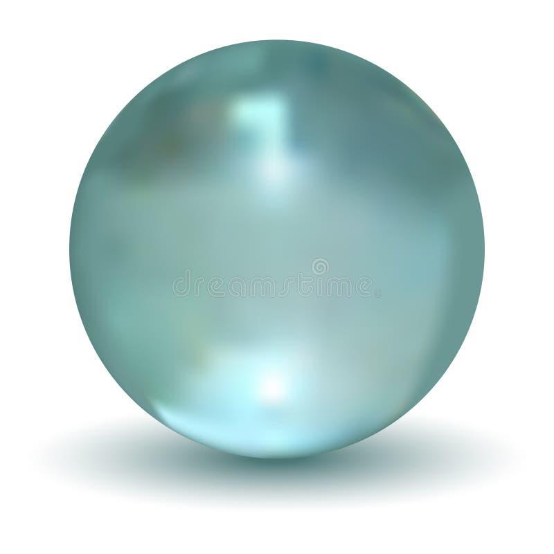 3D Kristallen bol vector illustratie