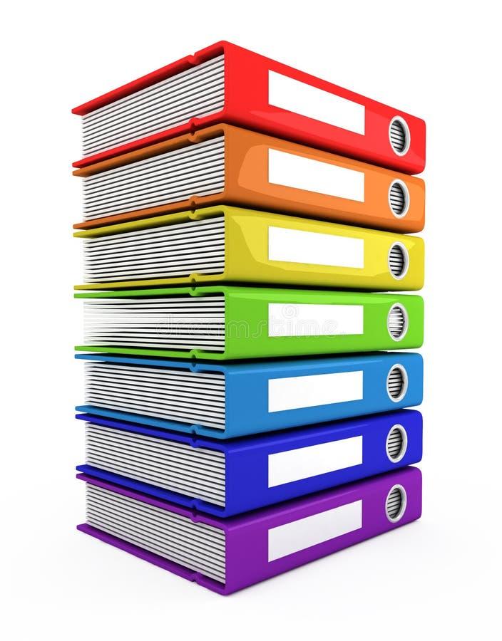 3d książki barwią wierza ilustracja wektor