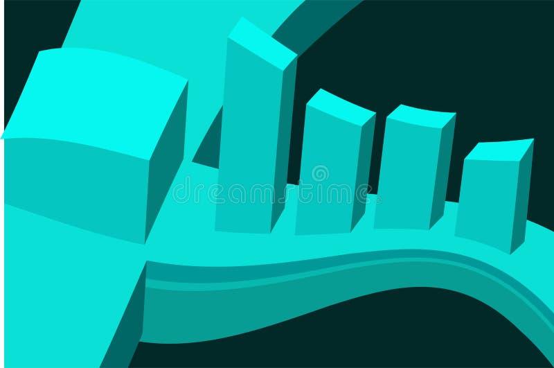 3D kształty ilustracja wektor