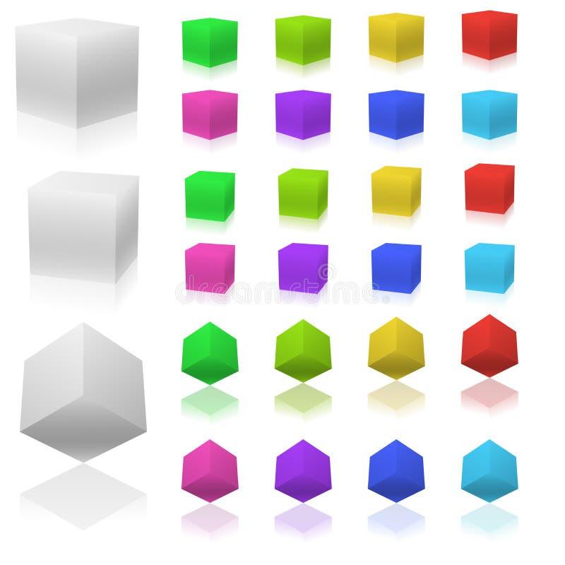 Download 3D kubussen vector illustratie. Illustratie bestaande uit creatief - 10781390