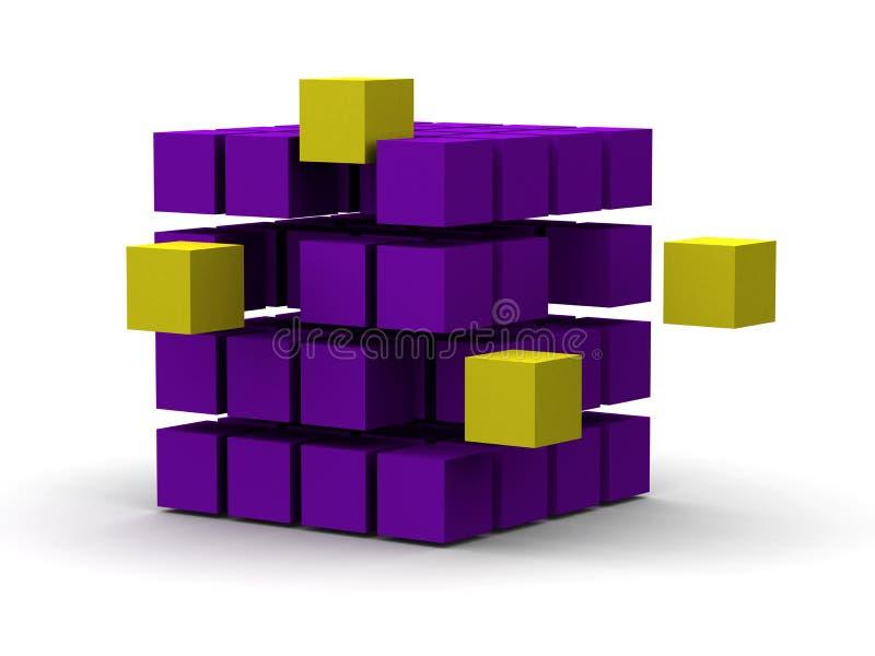 3d kubussen van de innovatie