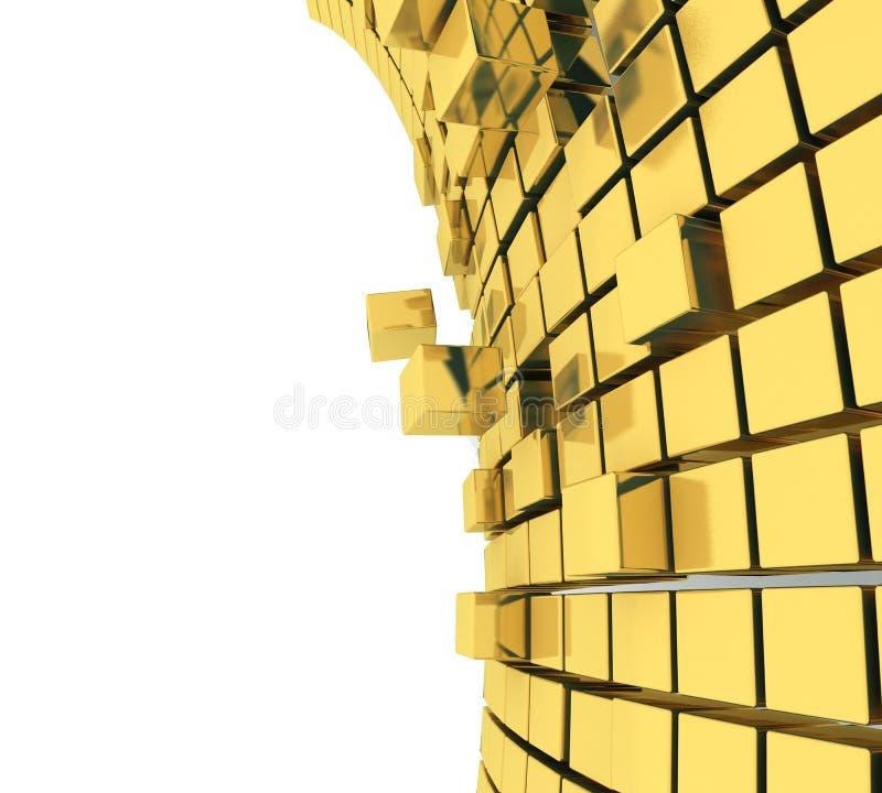3D kubussenachtergrond stock foto