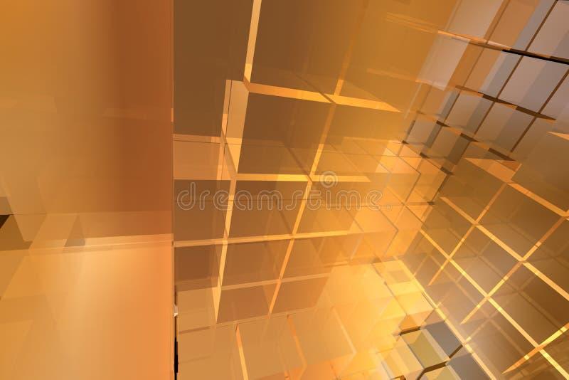 3d kubussenlay-out met eenvoudig licht royalty-vrije illustratie