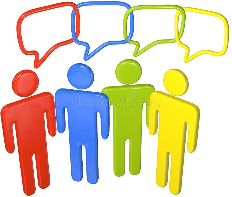 3d kulisowi środków ludzie ogólnospołecznej mowy rozmowy royalty ilustracja