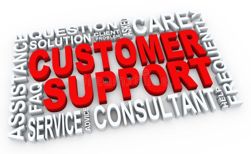 3d Kundenbetreuung stock abbildung