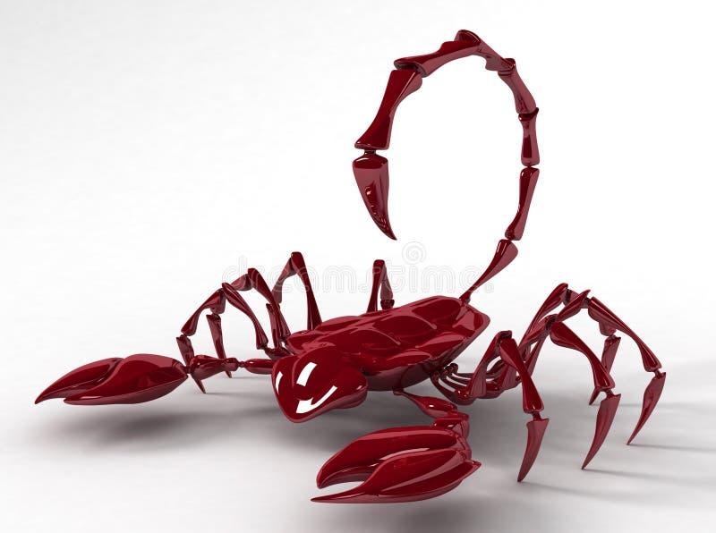 3d låten vara scorpion royaltyfria foton