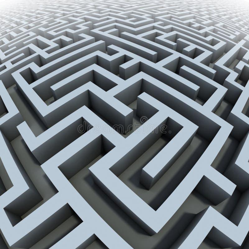 3d labyrinth stock illustration