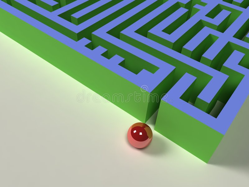 3D labyrinth royalty free stock image