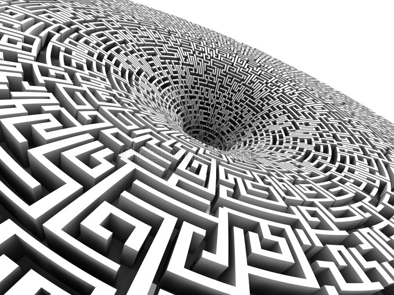Download 3D labyrinth stock illustration. Image of geometric, goal - 8768158