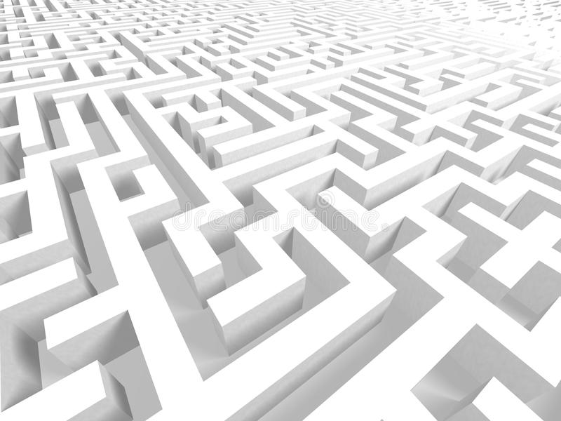 Download 3D Labyrinth stock illustration. Image of challenging - 9774180