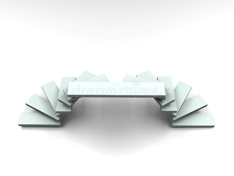 3D Ladder Arc Style Podium - Front View Royalty Free Stock Photos