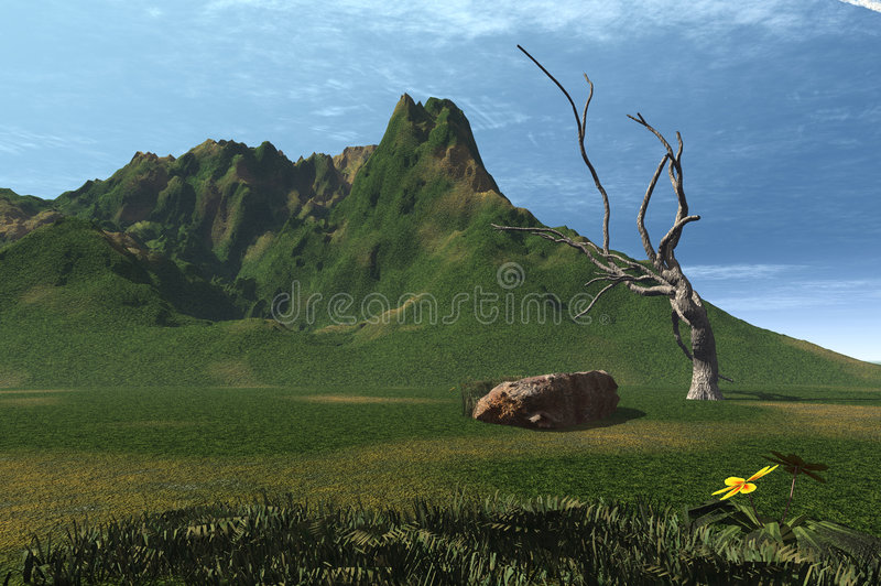 3d Landscape Royalty Free Stock Photos