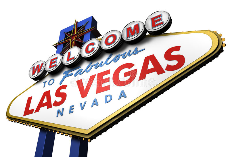 3d Las Vegas Sign, Nevada royalty free illustration